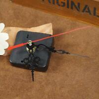 4X Wanduhr Quarz Uhrwerk Mechanismus Reparatur Set Diy Hände Kit Schwarz