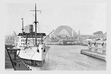 STRATHNAVER 1932 Jones Bay wharf Sydney Modern Digital Photo Postcard