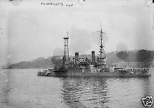 """US Navy USS Massachusetts World War 1 6x4"""", Reprint Photo a"""