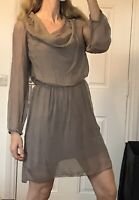 Made In Italy Silk Dress Size M