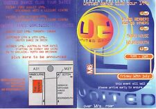 UNITED DANCE Rave Flyer Flyers 12/7/96 A6 The Manor Bournemouth World Tour