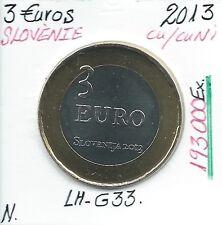 3 Euros - SLOVENIE - 2013 // Qualité: NEUVE (193 000 Ex)
