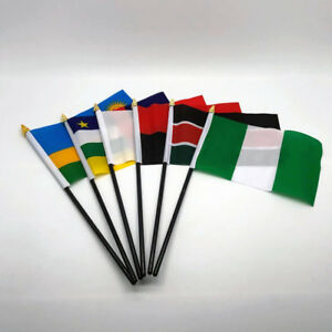 Hand Table Flag AFRICA Flags ALL COUNTRIES Without Base Country Displa 6 x 4 UK
