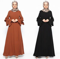 Women Muslim Kaftan Maxi Dress Islamic Abaya Cocktail Party Vintage Robe Gown