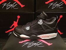 NIB NIKE AIR JORDAN 4 IV RETRO LS OREO TECH GREY BLACK Sz 11.5 W/COPY OF RECEIPT