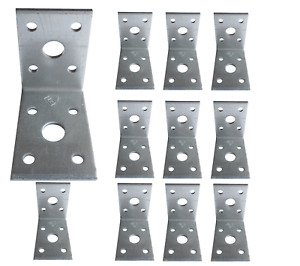 Corner Angle Bracket 90 Degree Heavy Duty Right Metal Galvanised 50x50x35x2.5mm