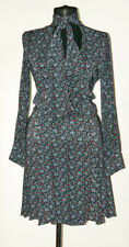 Patrizia Pepe Firenze Floral Wrap Viscose Elastane Dress Belt Collar IT 42  UK 8