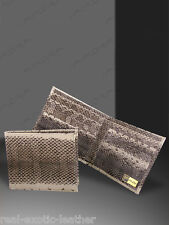 Dog-Faced Snakeskin Bifold Wallet Real Snake Multi-Color Implora