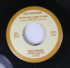Country 45 Merle Haggard - Heaven Was A Drink Of Wine / My Own Kind Of Hat On 8
