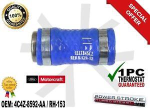 03-10 6.0L Powerstroke Diesel Genuine OEM Ford Motorcraft Blue EGR Cooler Hose.