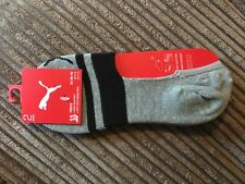Puma Sports Socks Footies Cotton Sock (2 Pair Packs) UK Size 6-8 - Grey