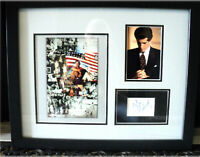 "Framed 21"" X 17"" George Magazine John JFK Kennedy Jr Autograph COA Photo Collage"