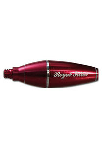 ROYAL FILTER 9mm Aktivkohle Adapter Screen Queen Prince sieblose Pfeife rot  NEU