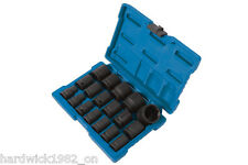 MAY SALE! IMPACT SOCKET SET 18pce 10mm - 32mm IN STORAGE CASE 1/2 DRIVE