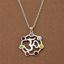 Flower of Life Geometry Pendant Necklace Egyptian Women Yoga Jewelry Rune Chain