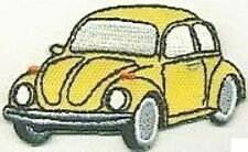 """2.5"""" Yellow Beetle Vehicle Car Facing Left Embroidery Patch"""