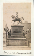 Angleterre, Londres, Statue du Prince Albert, ca.1875, vintage albumen print Vin