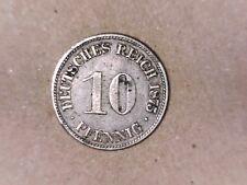 1875 H  Ten Pfennigs Empire GERMANY EF+