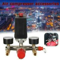 Air Compressor Pump Pressure Control Valve Manifold Regulator Gauges W5R3