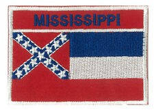 Toppa stemma mostrina bandiera MISSISSIPPI STATO USA US 70 x 45 mm ricamato