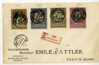 Russia 1915 Registered Cover Petrograd to Zurich Switzerland