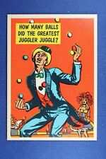 1957 Topps Isolation Booth #51 How Many Balls Greatest Juggler Juggled?  - NrMt