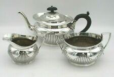 More details for 3 piece silver plated tea set by elkington - 1906 - milk jug, sugar bowl tea pot