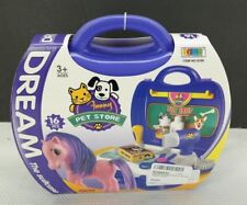 PowerTRC Case Play Set   Toy Travel Case   Pretend Pony Carrier   16 Pcs Set T3