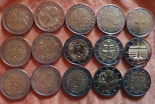15 x 2 Euro Sondermünzen Gedenkmünzen Europa