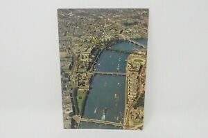 London Postcard - Aerial View of The River Thames at Westminster A150