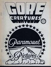 Gore Creatures 22 Paramount Horror Films Wolfman BC Hitchcock Erotic Vampire `73