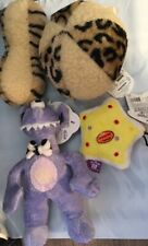 dog toy lot Halloween Christmas leopard fleece ball tiger dumbbell monster star