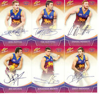2008 Select AFL Champions Blue Foil Signature Card Team Set (6):Brisbane
