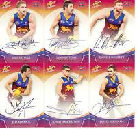 2008 Select AFL Champions Blue Foil Signature Card Team Set (6):Brisbane