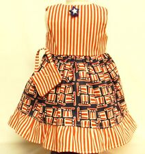 4th Of July Themed Cotton Print Dress For 18 Inch Doll