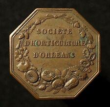 Frankreich, Achteckige Bronzemedaille 1839, von Caquet, Gartenbauverein Orléans