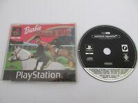 BARBIE RACE & RIDE Aventure Équestre - SONY PLAYSTATION PS1 Version PROMO Fr