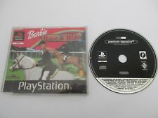 BARBIE RACE & RIDE Aventure Équestre - SONY PLAYSTATION PS1 Version PROMO Fr
