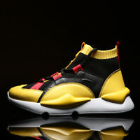 Men's Athletic Sneakers Outdoor Sports Shoes Running Breathable Casual High Top