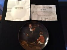 Norman Rockwell The Tycoon Collector Knowles Limited Plate