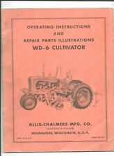 Allis Chalmers Wd 6 Cultivator Operating Instructions Manual