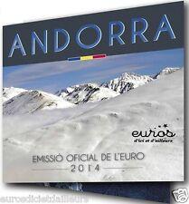 Set BU ANDORRE 2014 - Série 1 cent à 2 euros en qualité Brillant Universel