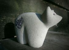 Charity Art Auction Original Bear Carving handmade stone small animal love