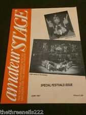 AMATEUR STAGE - SPECIAL FESTIVALS ISSUE - JUNE 1991