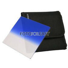 "FOTGA 4 X4""Gradual Graduated Blue filter for Matte box Cokin Z Hitech Lee Holder"