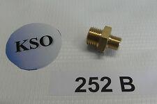"Doppelnippel 1/8"" - 1/4"" AG Messing Fitting Verbinder Pneumatik Wasser Druckluft"