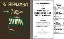 Chevrolet 1950 - 1950 Supplement to the 1949 Passenger Car Shop Manual - 1949 Mo