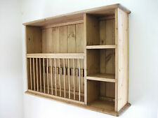 Plate rack - Pine wall plate rack unit made by our own carpenters