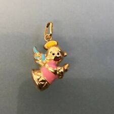 Charm Gold 9ct 'Angel' Charm Pendant with Enamel