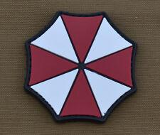 "PVC / Rubber Patch ""Umbrella Logo"" with VELCRO® brand hook"